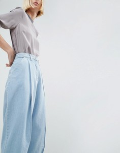 Выбеленные голубые джинсы в винтажном стиле ASOS WHITE - Синий