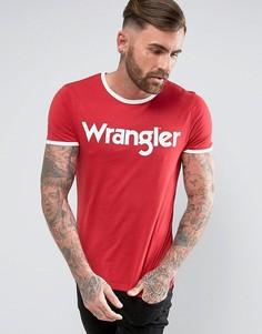 Футболка с логотипом Wrangler - Красный