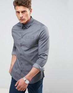 Эластичная джинсовая рубашка зауженного кроя Burton Menswear - Черный