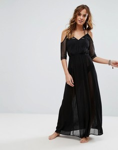 Черное сетчатое пляжное платье макси Butterfly By Matthew Williamson - Черный