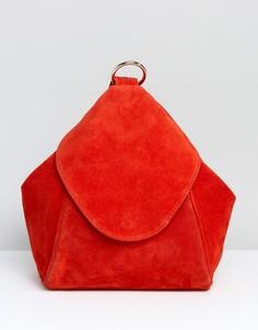 Замшевый рюкзак с кольцом ASOS - Красный