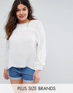 Блузка с кисточками Missguided Plus - Белый