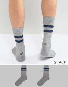 Набор из 2 пар спортивных носков с надписью ASOS - Серый
