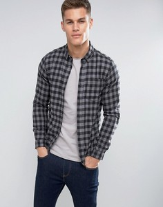Фланелевая рубашка в клетку Jack & Jones - Серый