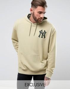 Свободный худи Majestic Yankees эксклюзивно для ASOS - Светло-серый