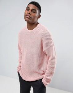Свободный розовый джемпер ASOS - Розовый