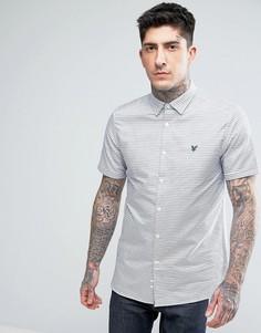 Оксфордская рубашка в горизонтальную полоску Lyle & Scott - Синий