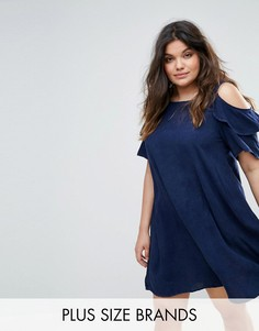 Джинсовое платье с открытыми плечами Alice & You - Фиолетовый
