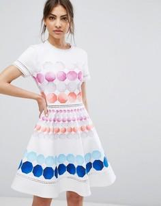 Платье с мозаичным принтом Ted Baker Myley - Темно-синий