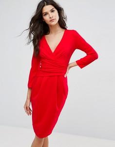 Платье миди с рукавами 3/4 City Goddess - Красный
