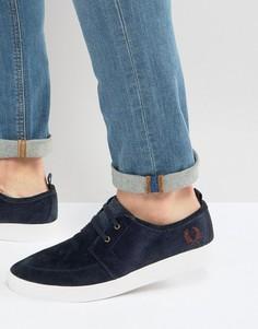Замшевые кроссовки Fred Perry Shields - Темно-синий