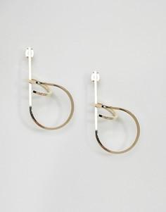 Серьги-гвоздики ограниченной серии с витым дизайном - Золотой Asos
