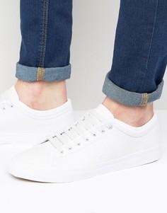 Кожаные кроссовки с окантовкой на манжетах Fred Perry Kendrick - Белый