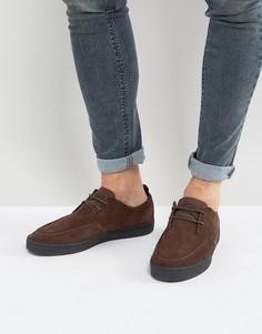 Замшевые кроссовки на крепированной подошве Fred Perry Shields - Коричневый