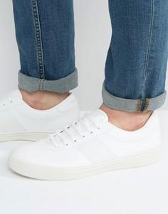 Кожаные кроссовки Fred Perry Authentic - Белый