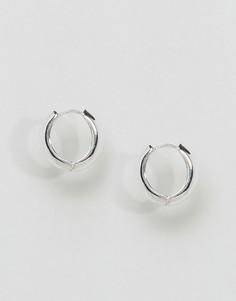 Серьги-кольца ограниченной серии в виде пончиков - Серебряный Asos
