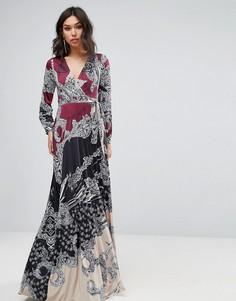 Платье макси с принтом Forever Unique - Мульти