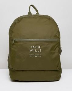 Нейлоновый рюкзак цвета хаки Jack Wills Benville - Зеленый