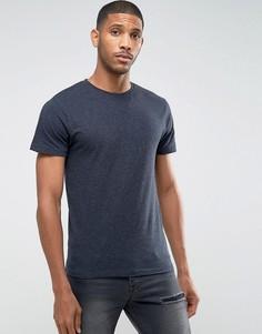 Меланжевая футболка в крапинку D-Struct - Темно-синий