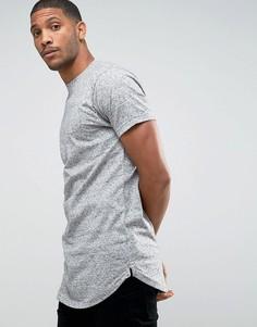 Длинная меланжевая футболка D-Struct - Серый