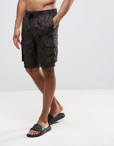 Камуфляжные шорты-карго Bravesoul - Зеленый