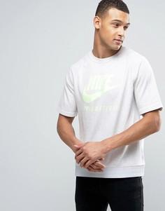 Серый свитшот с короткими рукавами Nike International 834306-051 - Серый