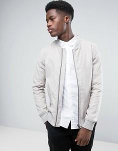 Серая замшевая куртка Lindbergh - Светло-серый