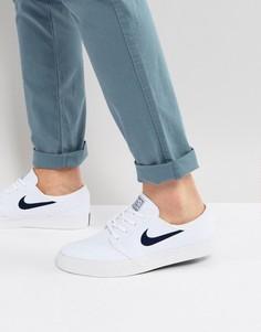 Белые парусиновые кроссовки Nike SB Zoom Stefan Janoski 615957-141 - Белый