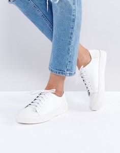 Кроссовки на шнуровке ASOS DATE NIGHT - Белый