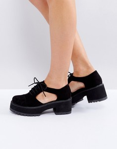 Туфли на толстой подошве с вырезами ASOS OAKE - Черный