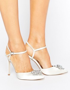 Туфли на высоком каблуке с острым носком и декоративной отделкой ASOS PEPPERMINT Bridal - Белый