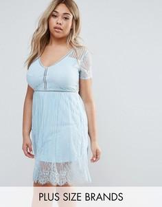 Кружевное платье мини Club L Plus - Синий