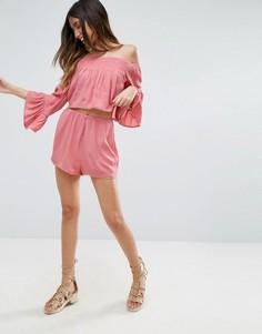 Комбинируемые пляжные шорты с отделкой ASOS - Розовый
