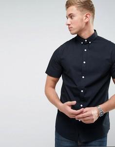 Поплиновая рубашка с коротким рукавом Troy - Черный