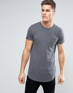Удлиненная футболка с карманом Produkt - Черный