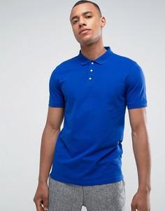 Ярко-синее поло Selected Homme - Синий