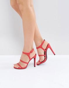 Босоножки на каблуке с ремешками New Look - Розовый