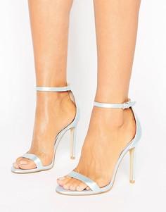 Легкие босоножки на каблуке Boohoo Bridal - Синий