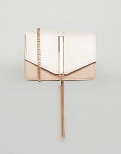 Золотистая сумка через плечо под кожу рептилии Lipsy - Золотой