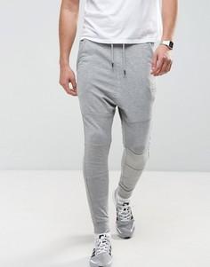 Спортивные штаны заниженного кроя Jack & Jones - Серый
