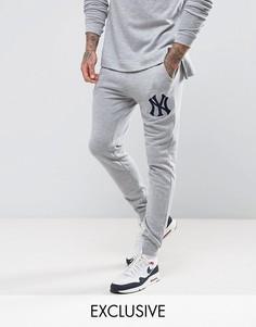 Джоггеры скинни Majestic Yankees эксклюзивно для ASOS - Серый