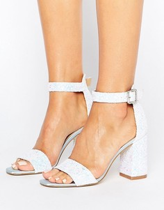 Босоножки на блочном каблуке Boohoo Bridal - Синий