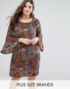 Платье с принтом пейсли и расклешенными рукавами Alice & You - Мульти