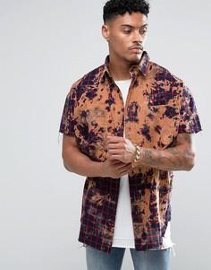 Oversize-рубашка в клетку без рукавов Jaded London - Фиолетовый