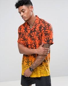 Рубашка с гавайским принтом и отложным воротником Jaded London - Оранжевый
