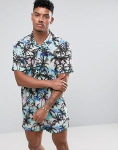 Рубашка с гавайским принтом и отложным воротником Jaded London - Черный