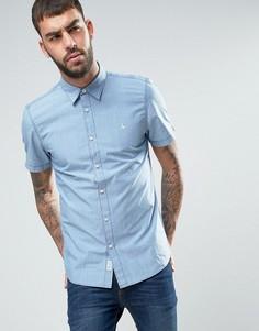Рубашка из шамбре стандартного кроя с коротким рукавом Jack Wills - Синий