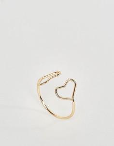 Кольцо с сердечками ASOS - Золотой