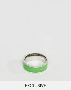 Кольцо с зеленой отделкой Reclaimed Vintage Inspired - Серебряный