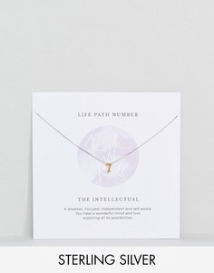 Серебряное ожерелье с подвеской в форме цифры 7 Rock N Rose - Золотой